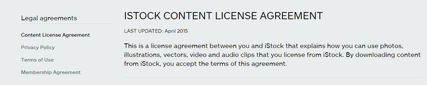istock photo license